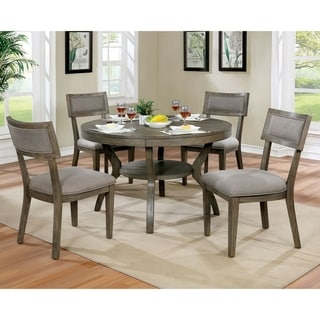 The Gray Barn Melody Fields Rustic Grey 5-piece Round Dining Set