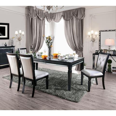 Furniture of America Kroll Contemporary Black 5-piece Dinning Set