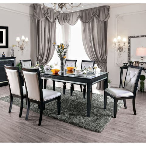 Silver Orchid Amann Contemporary Black 7-piece Dining Set