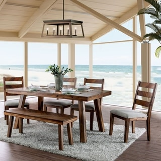 Carbon Loft Dorminey Rustic Light Oak 6-piece Dining Set