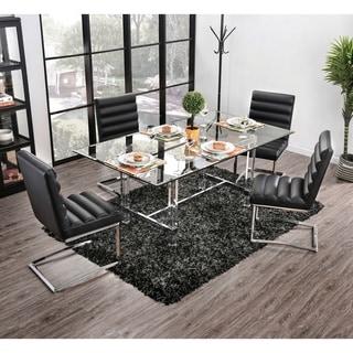 Strick & Bolton Kadir Chrome 5-piece Dining Set