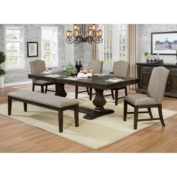 The Gray Barn Sunnybrooke Espresso 6-piece Expandable Dining Set