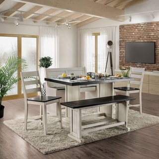 The Gray Barn Louise Park Farmhouse Espresso 5-piece Counter Height Dining Set