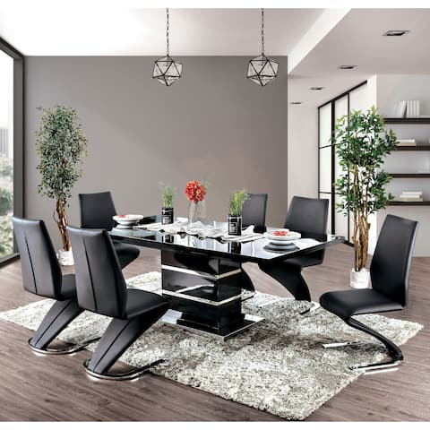 Strick & Bolton Ikemura Black 7-piece Dining Set