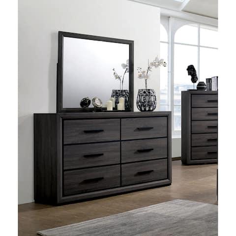 Furniture of America Soami Grey 2-piece Dresser and Mirror Set
