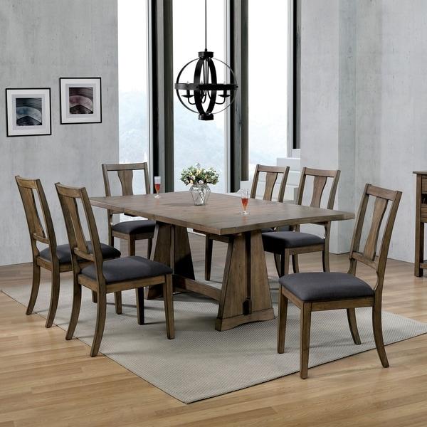 The Gray Barn Aduba Road Light Oak 7-piece Expandable Dining Set