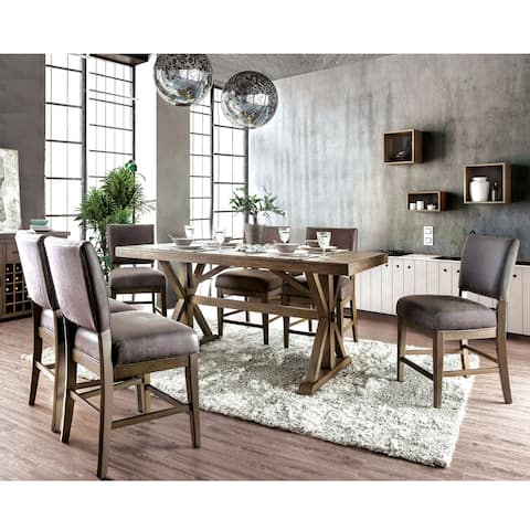 The Gray Barn Sunnybrooke Transitional Rustic Oak 7-piece Dining Set
