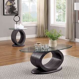Strick & Bolton Totte Grey 2-piece Accent Table Set