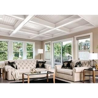 Gracewood Hollow Topcic Beige 2-piece Tufted Living Room Set