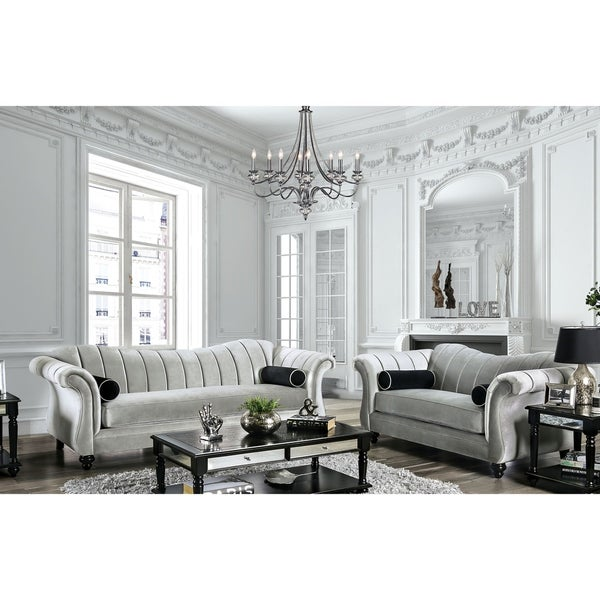 Furniture of America Graciela Glam Pewter 2-piece Living Room Set. Opens flyout.
