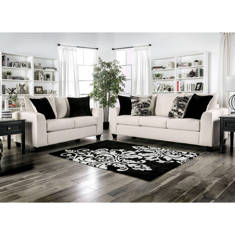 Copper Grove Enerhodar Ivory 4-piece Living Room Set with Ottoman