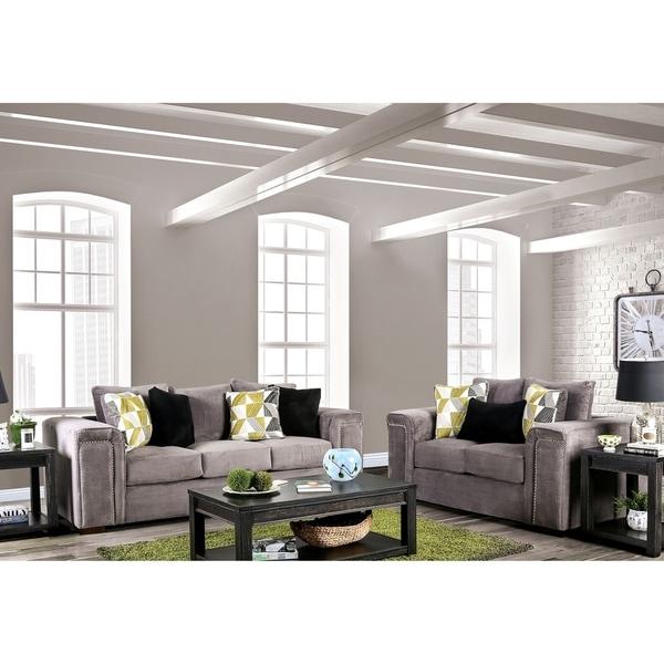 Strick & Bolton Kameya Grey 2-piece Living Room Set