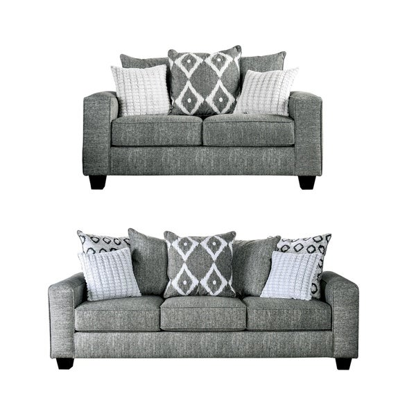 Porch & Den Katsules Grey 2-piece Living Room Set