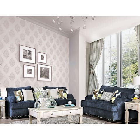 The Curated Nomad Hamerton Contemporary Navy 2-piece Living Room Set