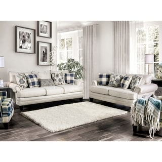 The Gray Barn Stormy Thistle Traditional Ivory 2-piece Living Room Set
