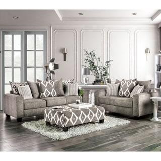 Copper Grove Myrnohrad Contemporary Grey 3-piece Living Room Set