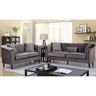 Silver Orchid Bennett Grey 2-piece Living Room Set