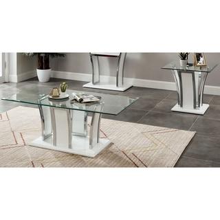 Silver Orchid del Rio Modern 2-piece Accent Table Set