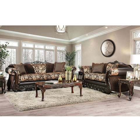 Gracewood Hollow Dayaram Traditional Brown 2-piece Living Room Set