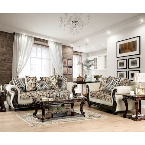 Gracewood Hollow Dahiwala Traditional Beige 2-piece Living Room Set
