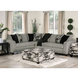 Strick & Bolton Hilma Contemporary Sectional and Ottoman