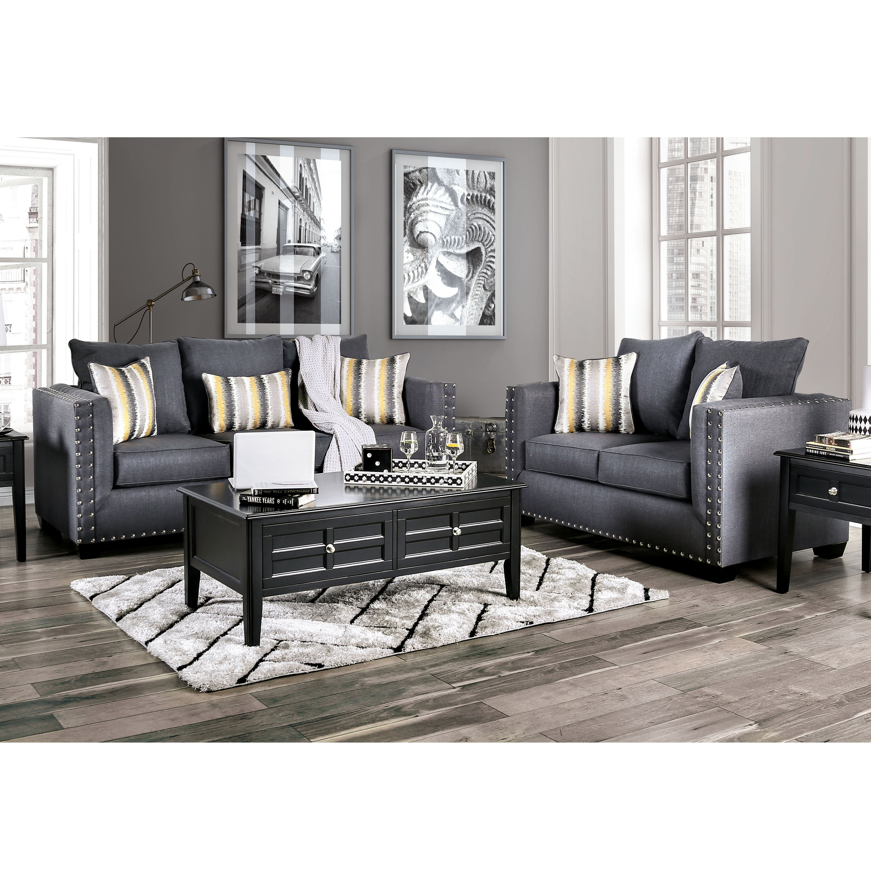Copper Grove Ambrolauri Slate Grey 2-piece Living Room Set