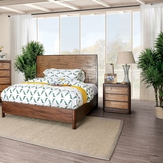 The Curated Nomad Lakeview Coastal Antique Brown 2-piece Bedroom Set