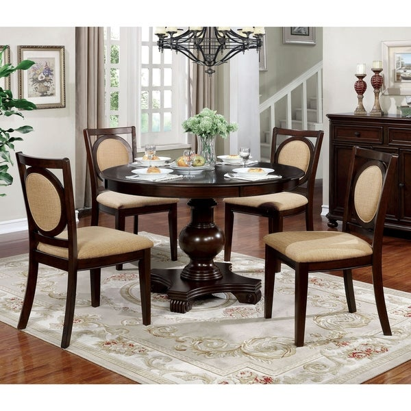 Copper Grove Tbilisi Brown Cherry 5-piece Dining Set