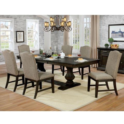 Furniture of America Ladonna Contemporary Espresso 7-piece Dinning Set