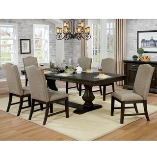 The Gray Barn Sunnybrooke Espresso 7-piece Expandable Dining Set