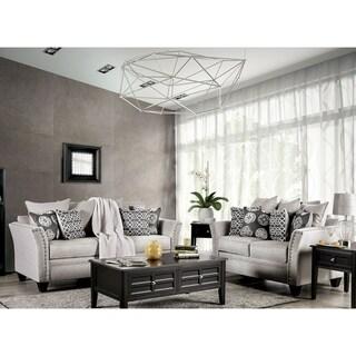 Silver Orchid Bennett Grey 2-piece Nailhead Living Room Set