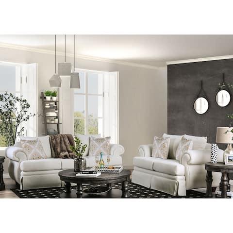Gracewood Hollow Desai Ivory 2-piece Living Room Set