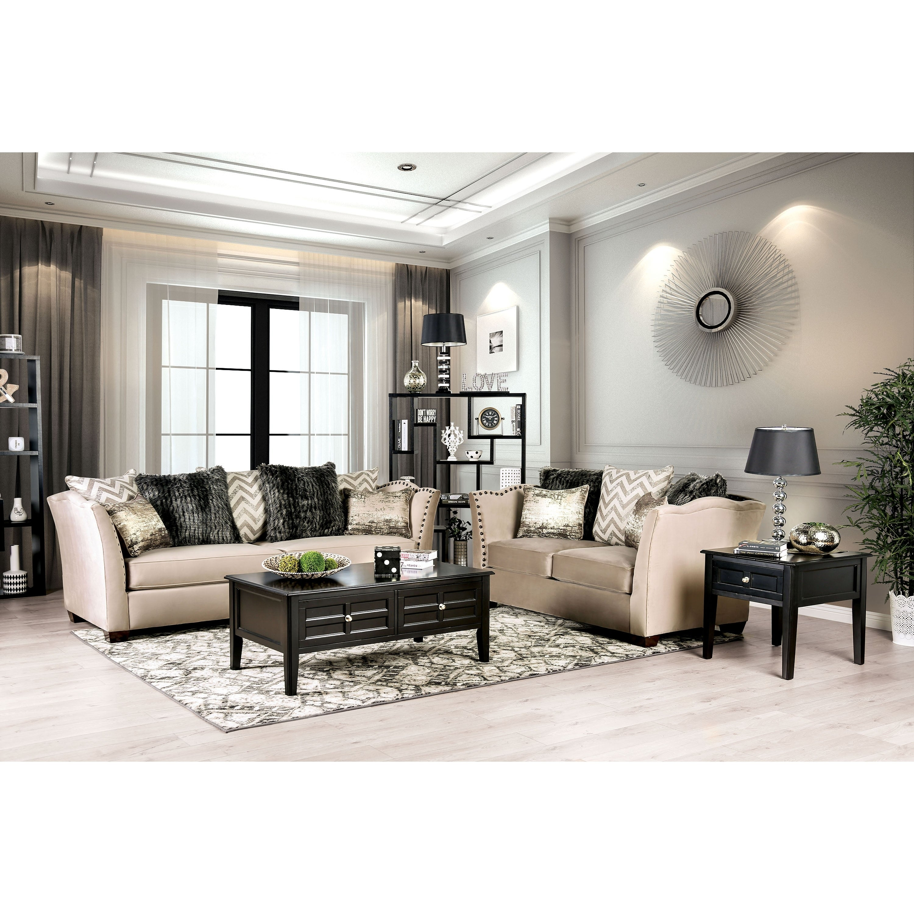 Silver Orchid Bennett 2-piece Nailhead Living Room Set