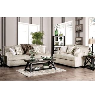 Copper Grove Gori Ivory 2-piece Living Room Set