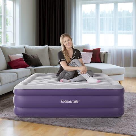 "Thomasville Sensation 15"" Raised Adjustable Comfort Air Bed Mattress"