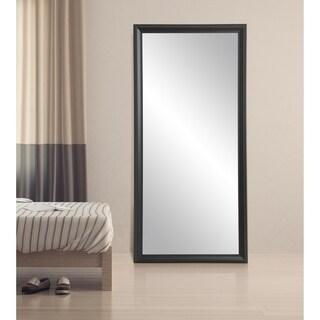 Modern Matte Black Full Length Mirror - Matte Black