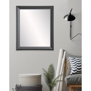 Modern Matte Black Accent Mirror - Matte Black