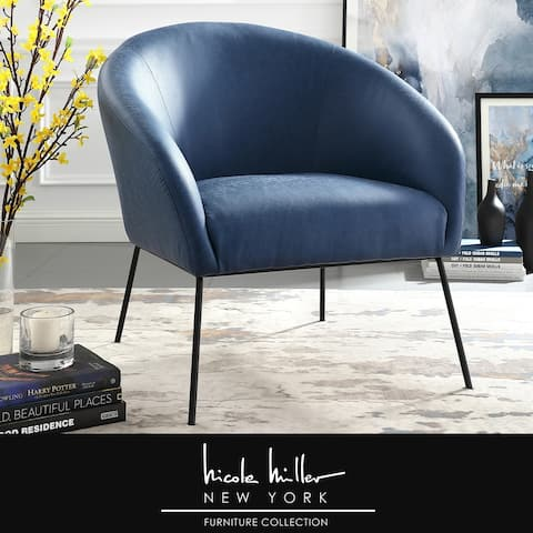 Nicole Miller Van Glam Accent Chair