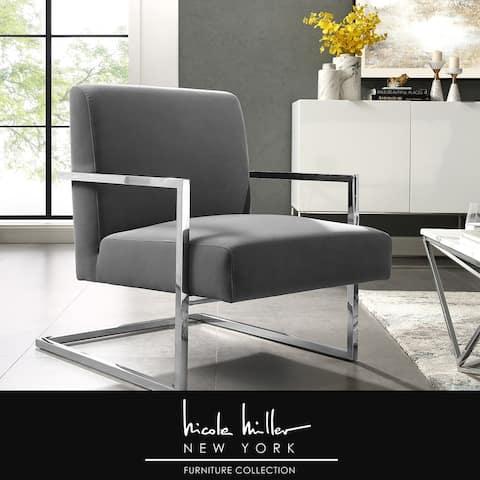 Nicole Miller Ichinen Accent Chair - Leather PU or Velvet
