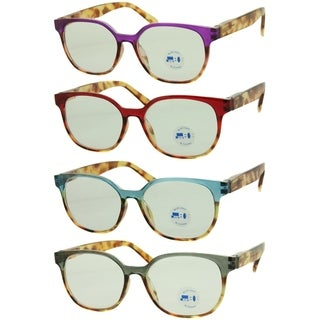 Link to Modern Blue Light Blocking Round Reading Glasses 4 Pair Pack Similar Items in Eyeglasses