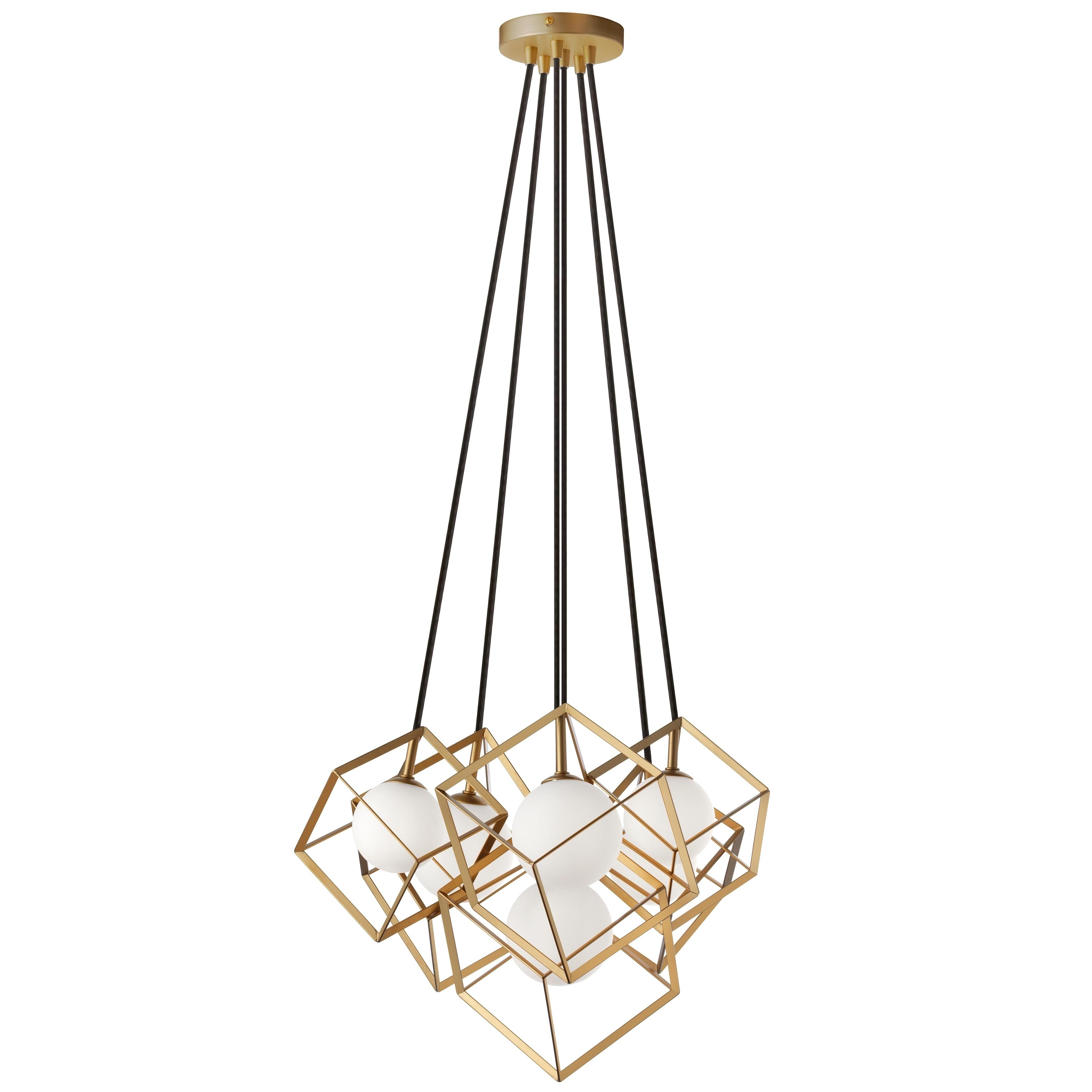 Shop 6 Light Halogen Pendant Gold Overstock 28415096