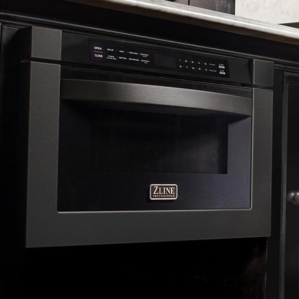 Shop Zline 24 Quot 1 2 Cu Ft Microwave Drawer In Black