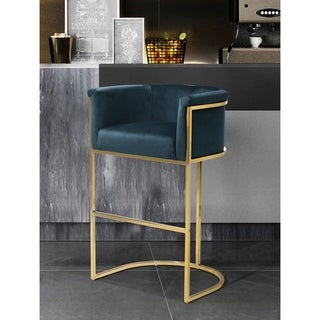 Silver Orchid Rowland Velvet Upholstered Bar/Counter Stool