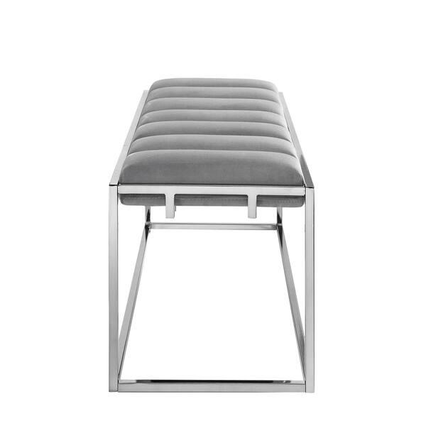Magnificent Shop Nicole Miller Greysen Velvet Bench Channel Tufted Metal Uwap Interior Chair Design Uwaporg
