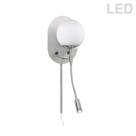1LT Incand Wall Sconce w/Reading Light SC