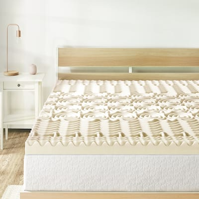 3 Inch 5-Zone Memory Foam Bed Topper with Copper Infused - Crown Comfort