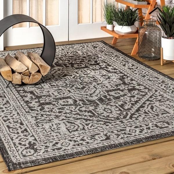 Do Area Rugs Work Over Carpet: Shop JONATHAN Y Sinjuri Medallion Textured Weave Indoor