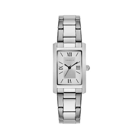 Caravelle Designed by Bulova Women's 43L203 Classic Rectangular Stainless Bracelet Watch
