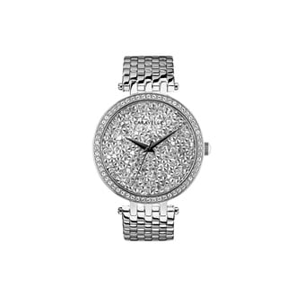 Caravelle Designed by Bulova Women's 43L206 Modern Crystal Rock Dial Stainless Bracelet Watch