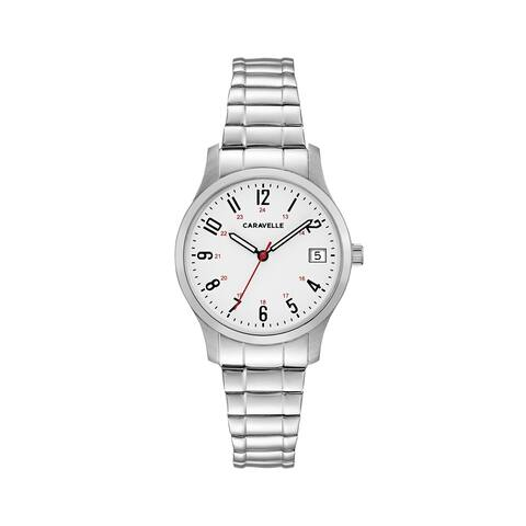 Caravelle Designed by Bulova Women's 43M119 Easy Reader Stainless Expansion Bracelet Watch